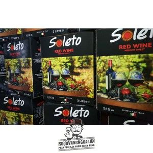 Vang Ý Ngọt SOLETO RED WINE 3L bn1