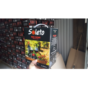 Vang Ý Ngọt SOLETO RED WINE 3L bn2